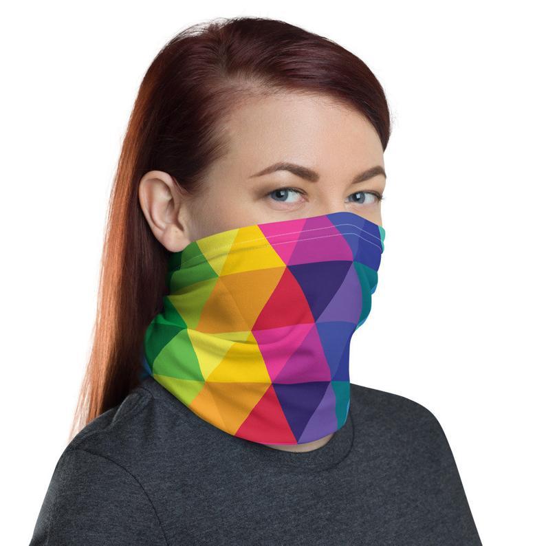 Kaleidoscope Neck Gaiter Unisex Face Mask Covering Colorful