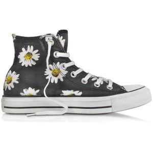 Converse Limited Edition Chuck Taylor All Star Black and Citrus Daisy Printed Canvas High Top Sneaker