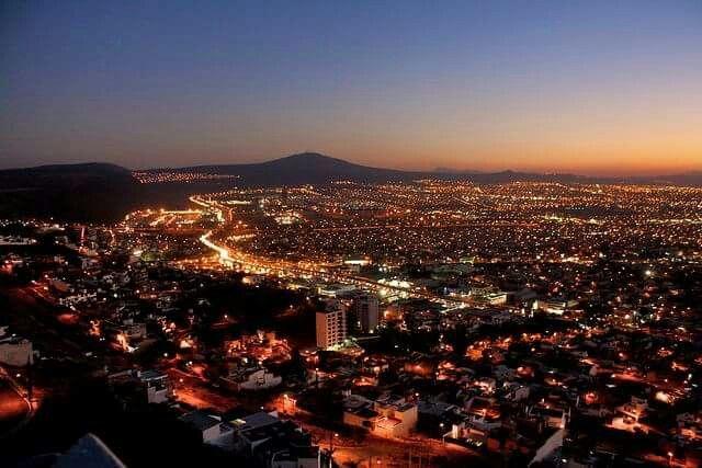Dusk in Mexico City