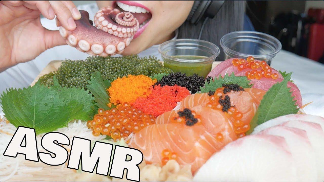 Asmr Best Sushi Platter Salmon Hamachi Octopus Seagrapes Eating Sound Sushi Platter Best Sushi Asmr moona asmr triggers para dormir moona😴/ for sleep / асмр триггеры для сна. pinterest