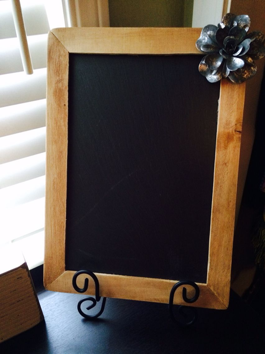 Chalkboard Embellishment Frame Stand All For Less Than 10