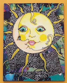 hippie graphics | mad for the moon singleton hippie art sold sock footed in his five o ...