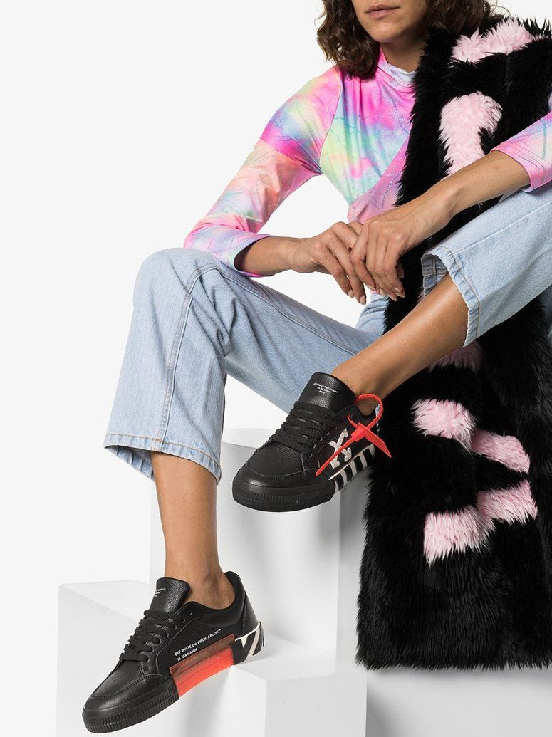 Off White Vulcanized Low Top Sneakers Black The Urge Us Leather Sneakers Women Top Sneakers Sneakers Black [ 1035 x 775 Pixel ]