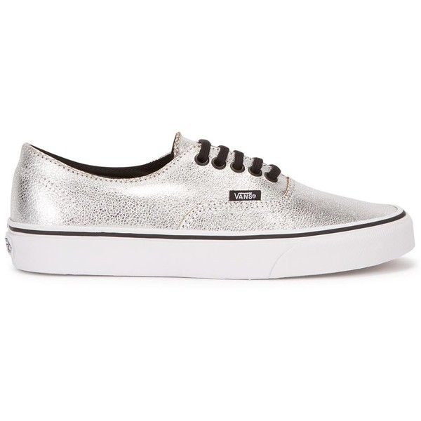 c754fbb1e2 Womens Low-Top Trainers Vans Authentic Decon Silver Leather Trainers ( 84)  ❤ liked on Polyvore featuring shoes