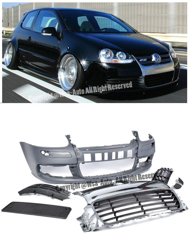 For 06 09 vw jetta gti rabbit mk5 v r32 style front bumper cover chrome