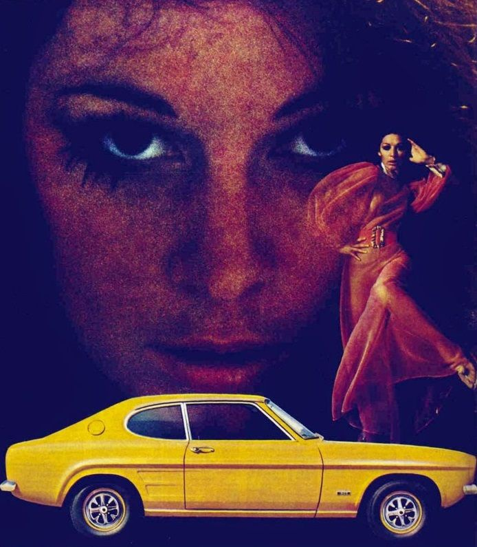 """Girlsandmachines: """"Ford Capri Merci Sly"""