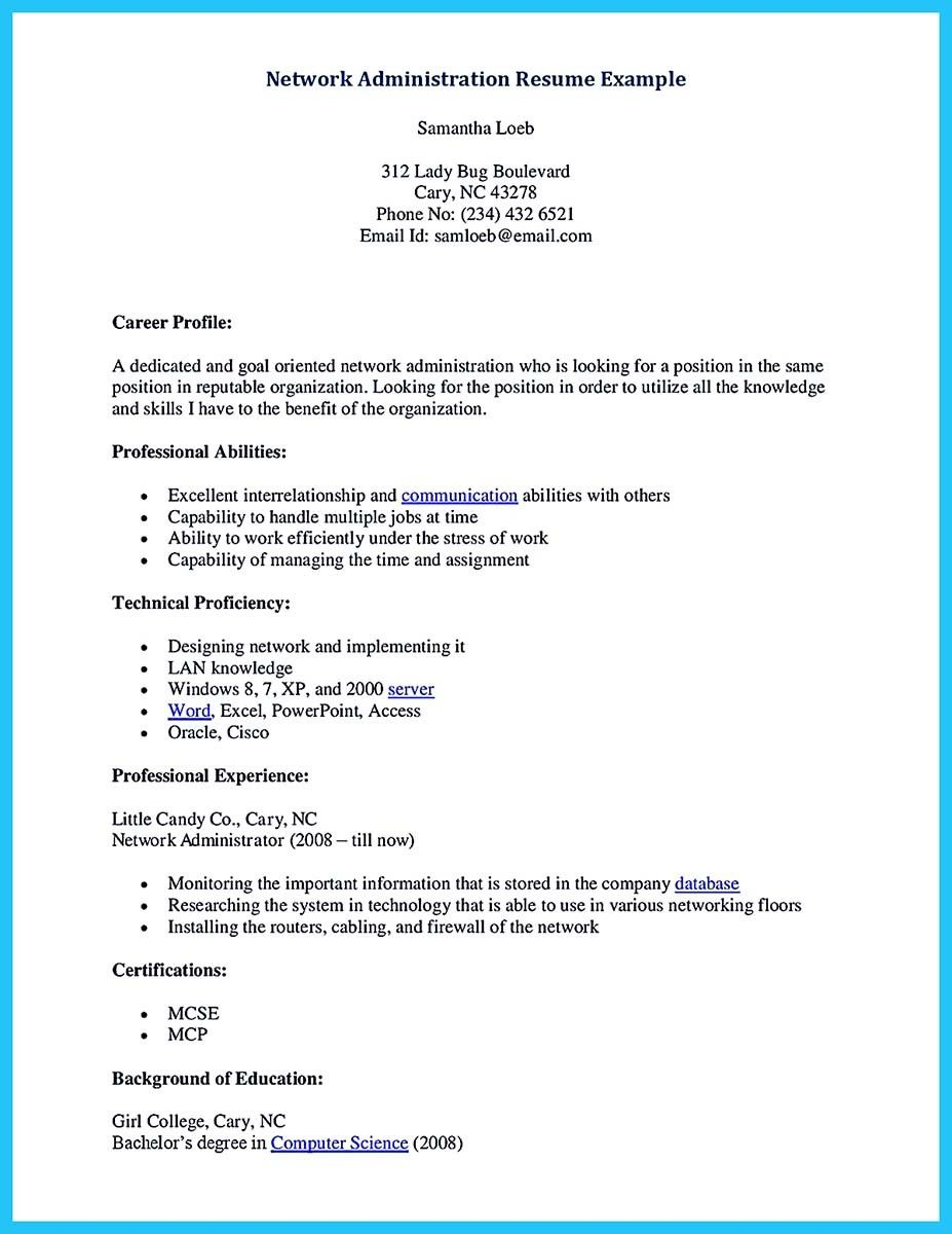 Network Administration Resume Adorable Nice Attract Your Employer With Defined Administrator Resume .