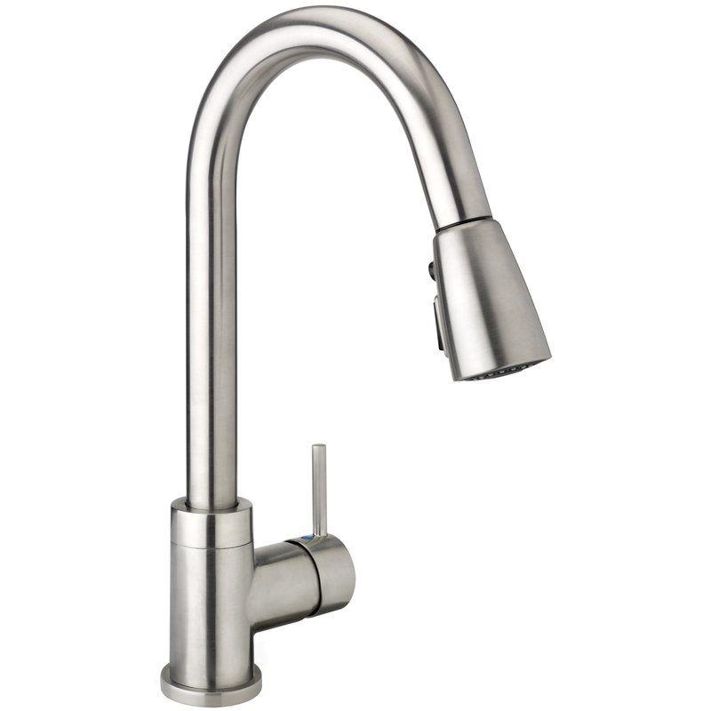 Belanger Pull Down Single Handle Kitchen Faucet Faucet Brushed