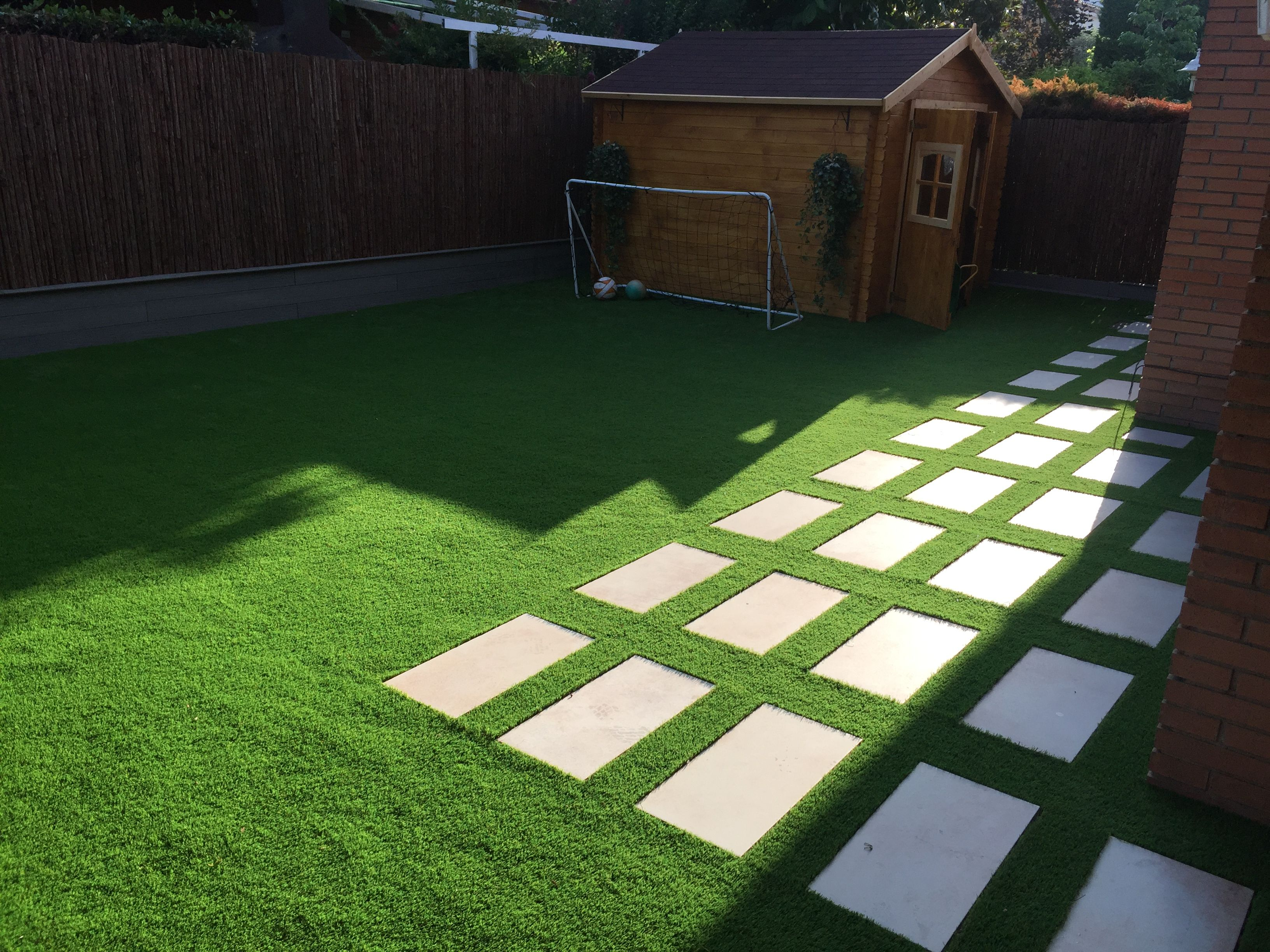 cesped #cespedartificial #artificial #jardin #garden #instalacion ...