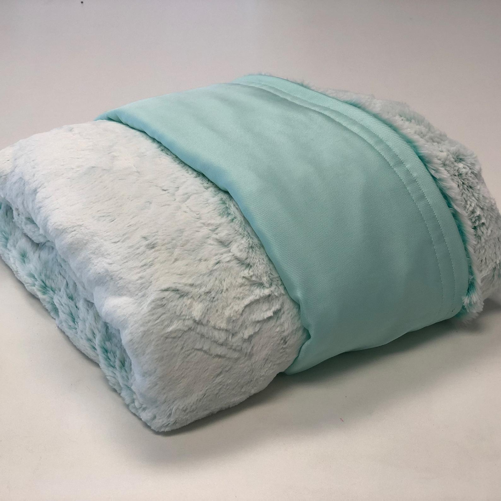 Cooling Weighted Blanket Mint Tencel And Frost Breeze Minky Etsy