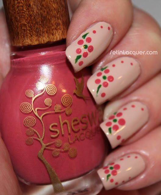 Flower dots in Sheswai 2013 Spring Summer polish collection shades