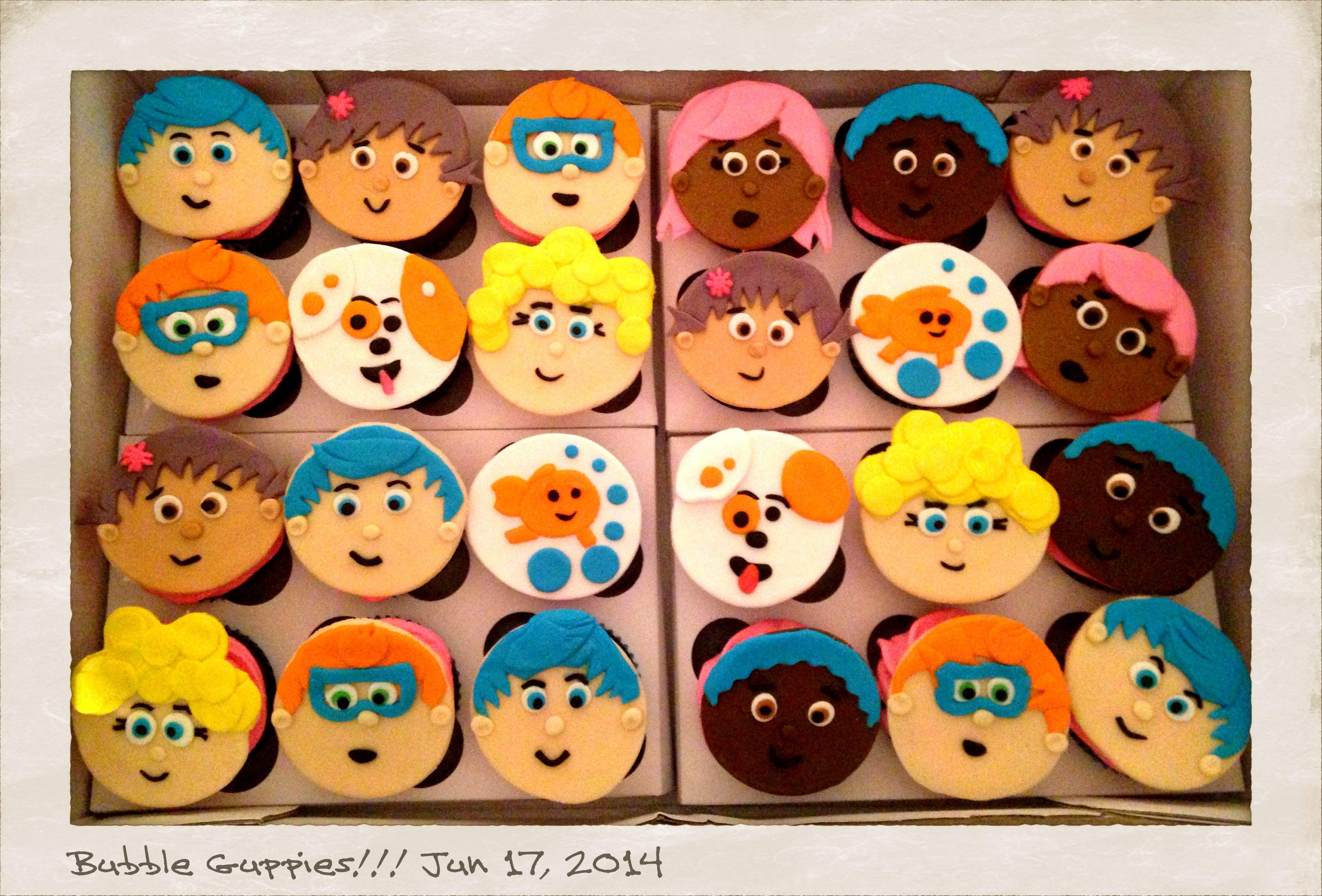 Bubble Guppies Cupcakes!