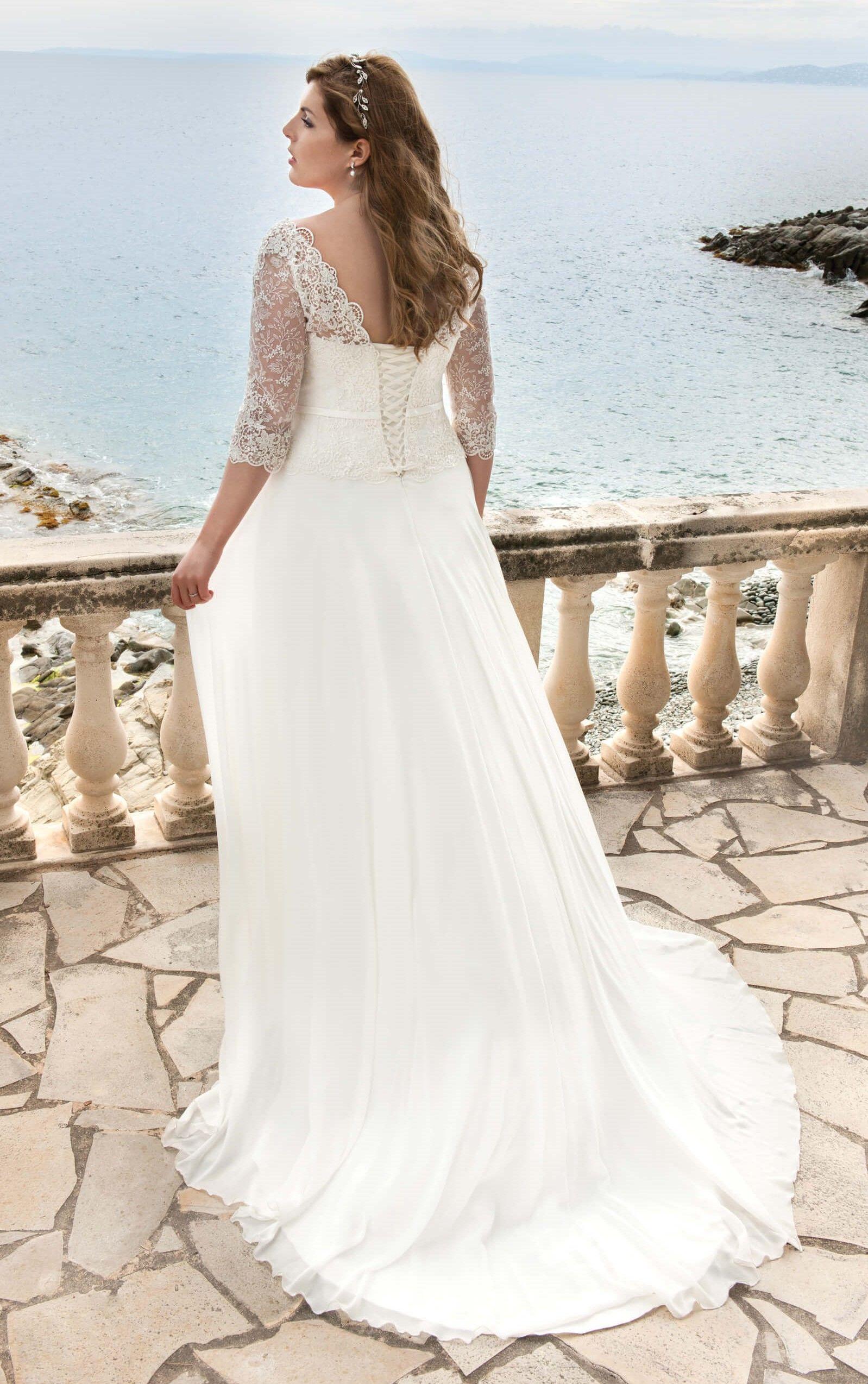 Wedding dress trouwjurk bruidsjurk plus size wedding curves bruiloft