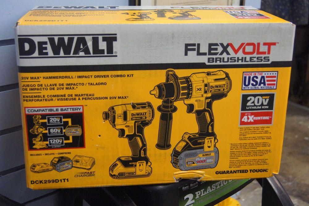 dewalt 20v max cordless compact drill/impact driver kit