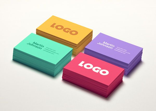 Colorful Business Card MockUp » GraphicBurger