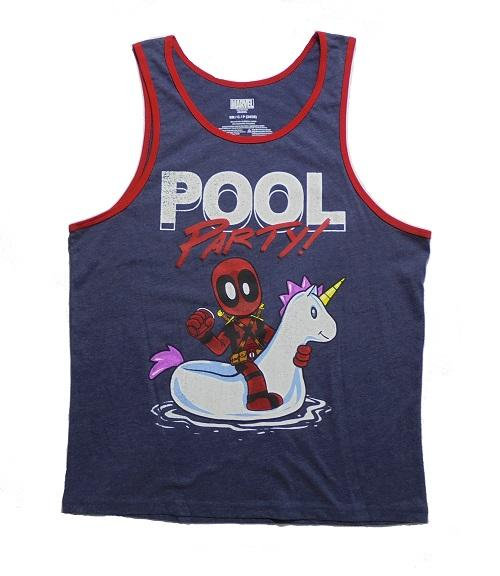 b6fa7f977932c Marvel Deadpool Pool Party Men s Graphic Tank Top