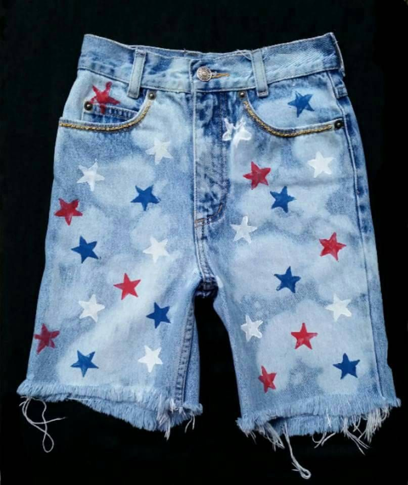 28a61eb247 ... Boys- Patriotic Shorts- Jeans- Skirts- American Flag- Distressed Denim-  Infant- Baby- Toddler- Kids- Hand Painted Denim by DivineUnlimited on Etsy