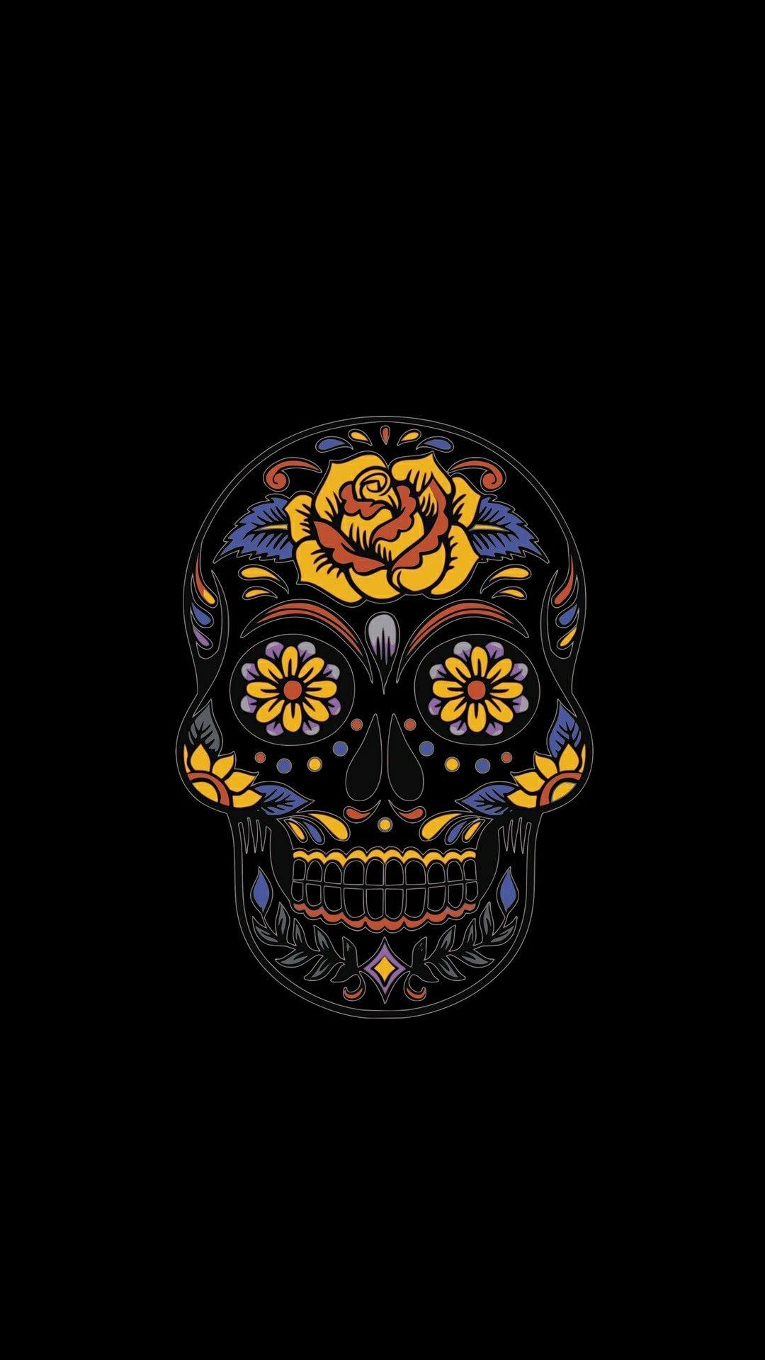 Pin by Lisa Green on D⚡ Skull, Sugar skull, Phone wallpaper