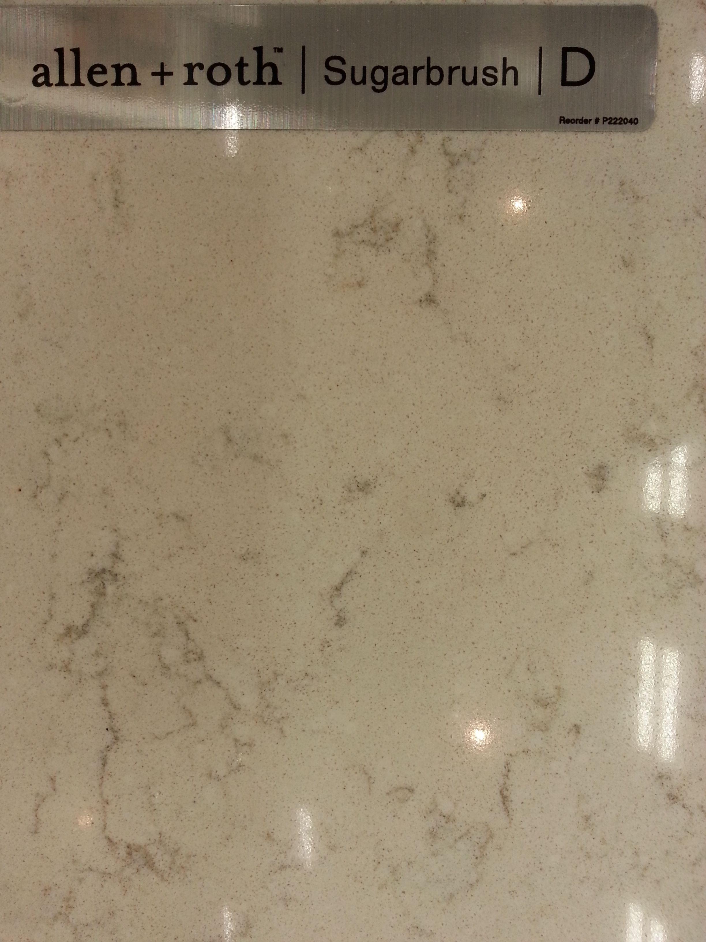 Potential Counter Tile Allen Roth Quartz Sugarbrush The