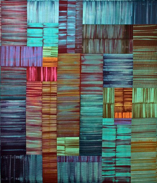 Blues Festival by Karen Farmer | textile art