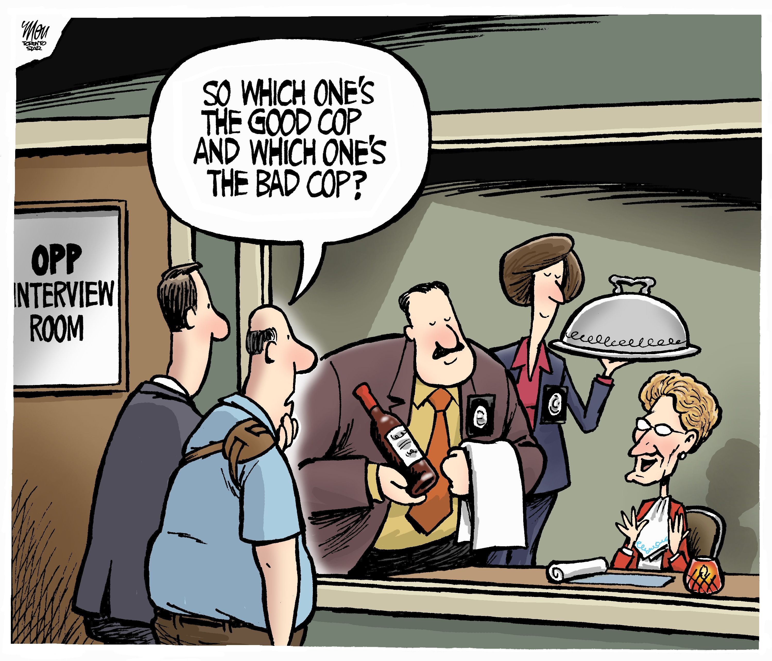 OPP Investigation: Today's editorial cartoon by Theo Moudakis.