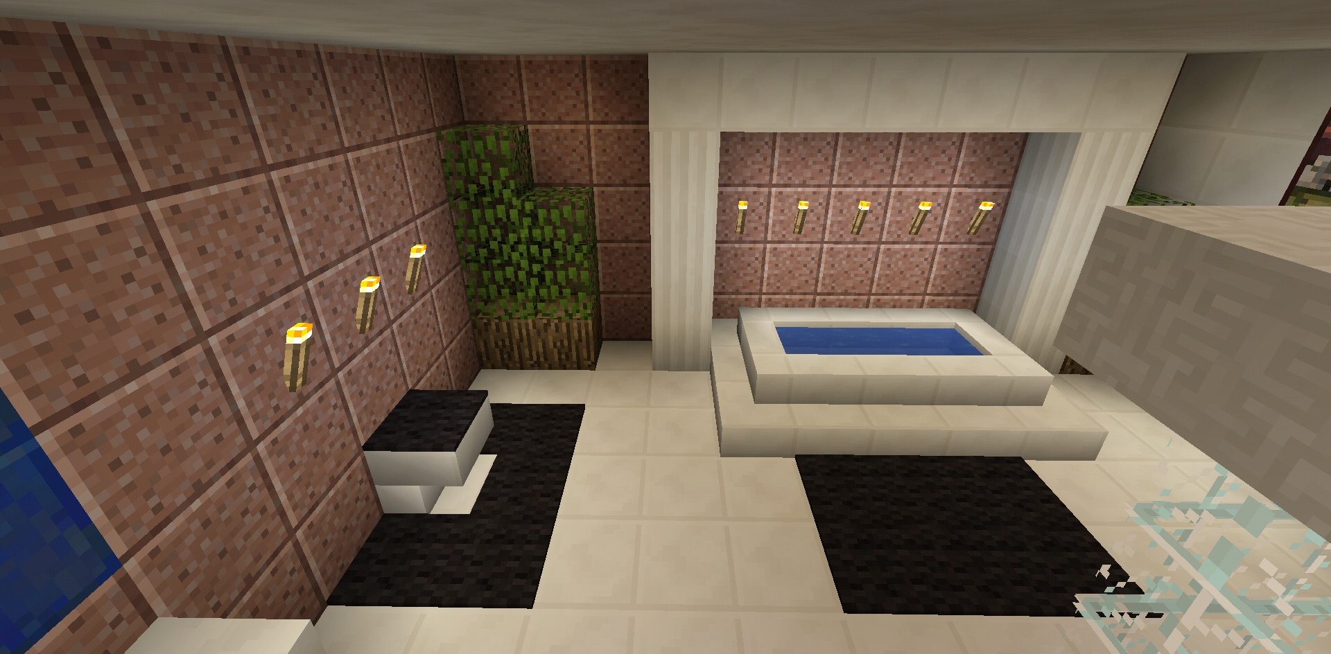 Minecraft Bathroom Garden Tub Toilet   Minecraft bedroom ...