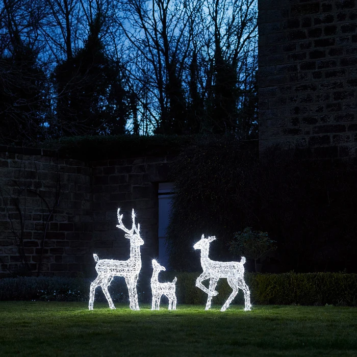 Acrylic Light Up Reindeer Family In 2020 Light Up Fawn Reindeer