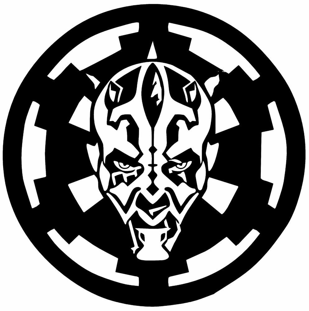 Star Wars Boba Fett Logo Vinyl Decal Sticker Aufkleber Car Laptop Set of 6