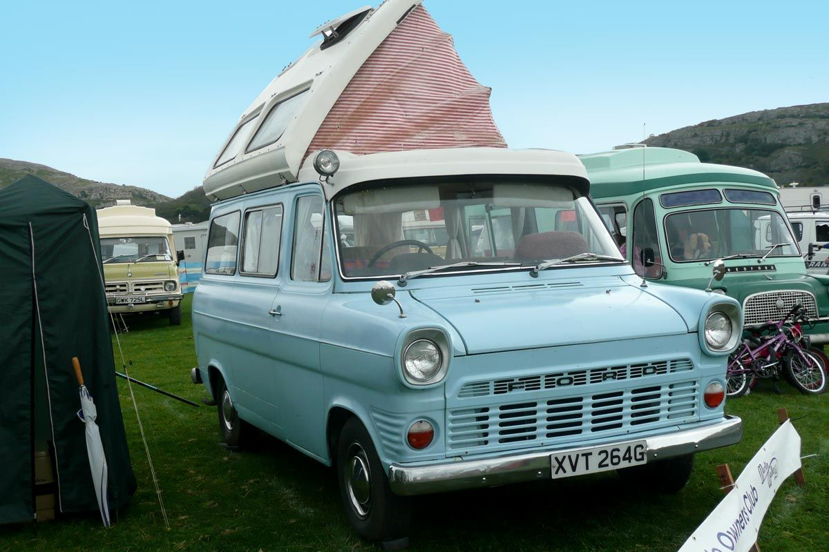 A classic Ford Transit converted into a campervan. Photo by Terry ...