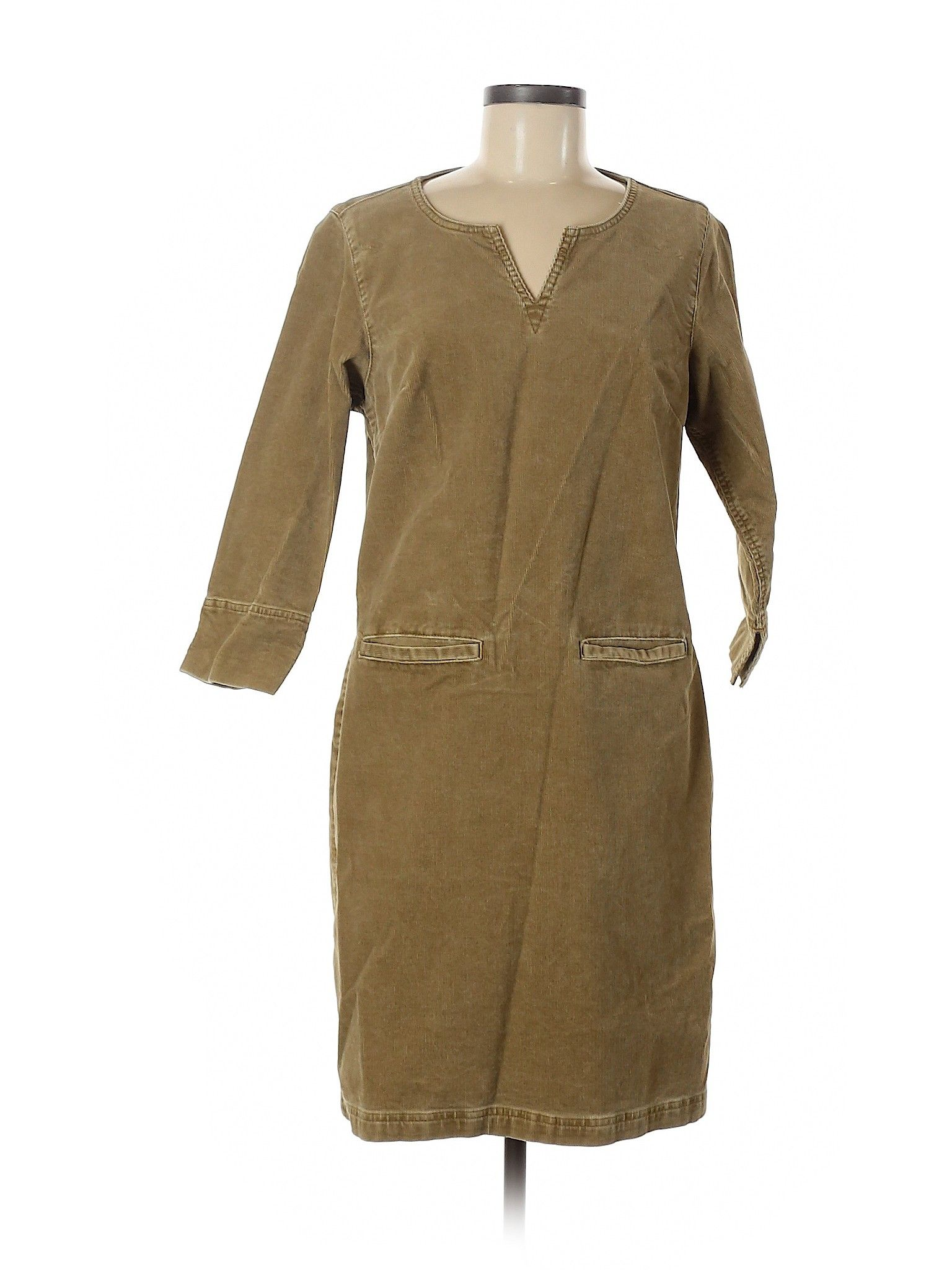 The Territory Ahead Casual Dress Sheath Green Solid Dresses Used Size 6 Clothes Womens Dresses Dresses