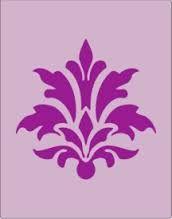 Resultado de imagem para stencil floral design