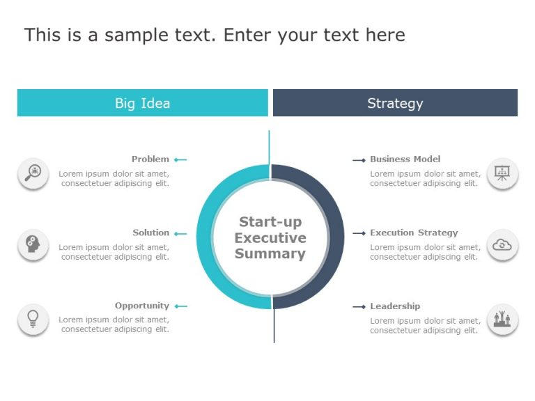 Startup Summary PowerPoint Template 1 in 2020 Powerpoint