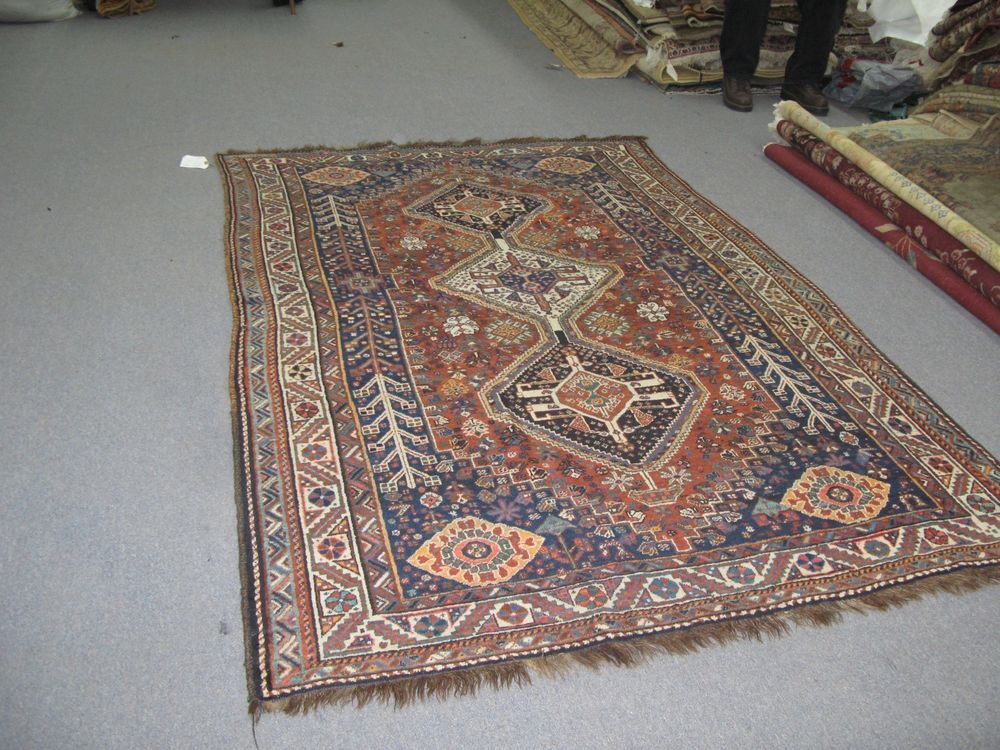 Details About Vintage Antique 5 3 X 8 0 Hand Knotted Wool