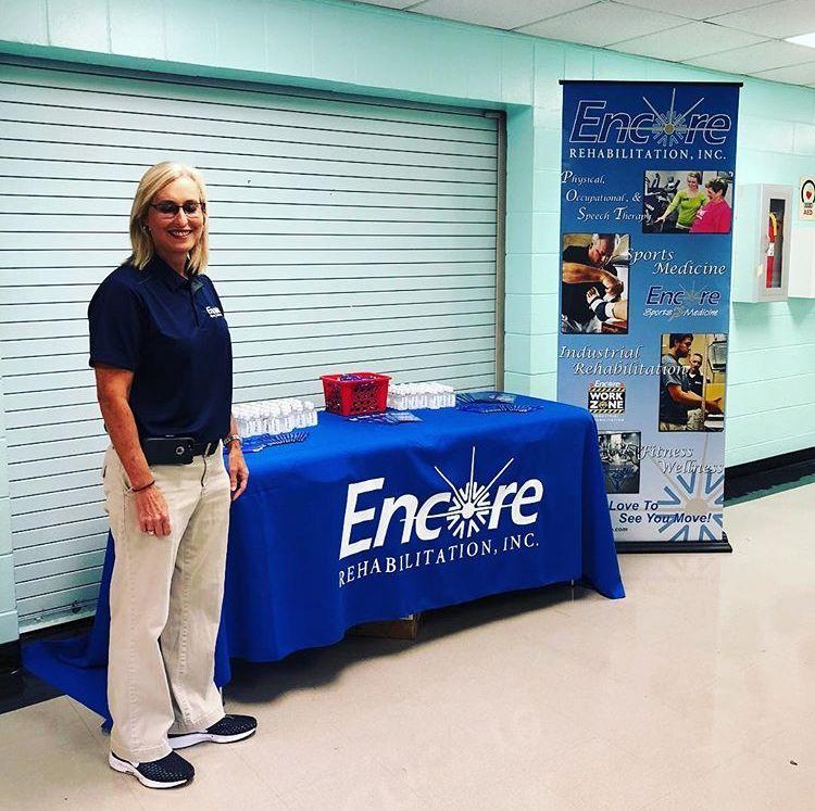 Encore Sports Medicine Athletic Trainer Melinda Wilson is