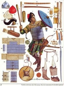 MA - 12th Century Turks http://www.infohow.org/war-weapons-military/armor-uniform-insignia/ma-12th-century-turks/ #militarydesign #militaryuniforms #military