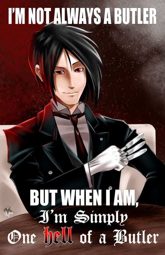 Tehehe if only his face looked better :/ Black Butler. $9.99, via Etsy.