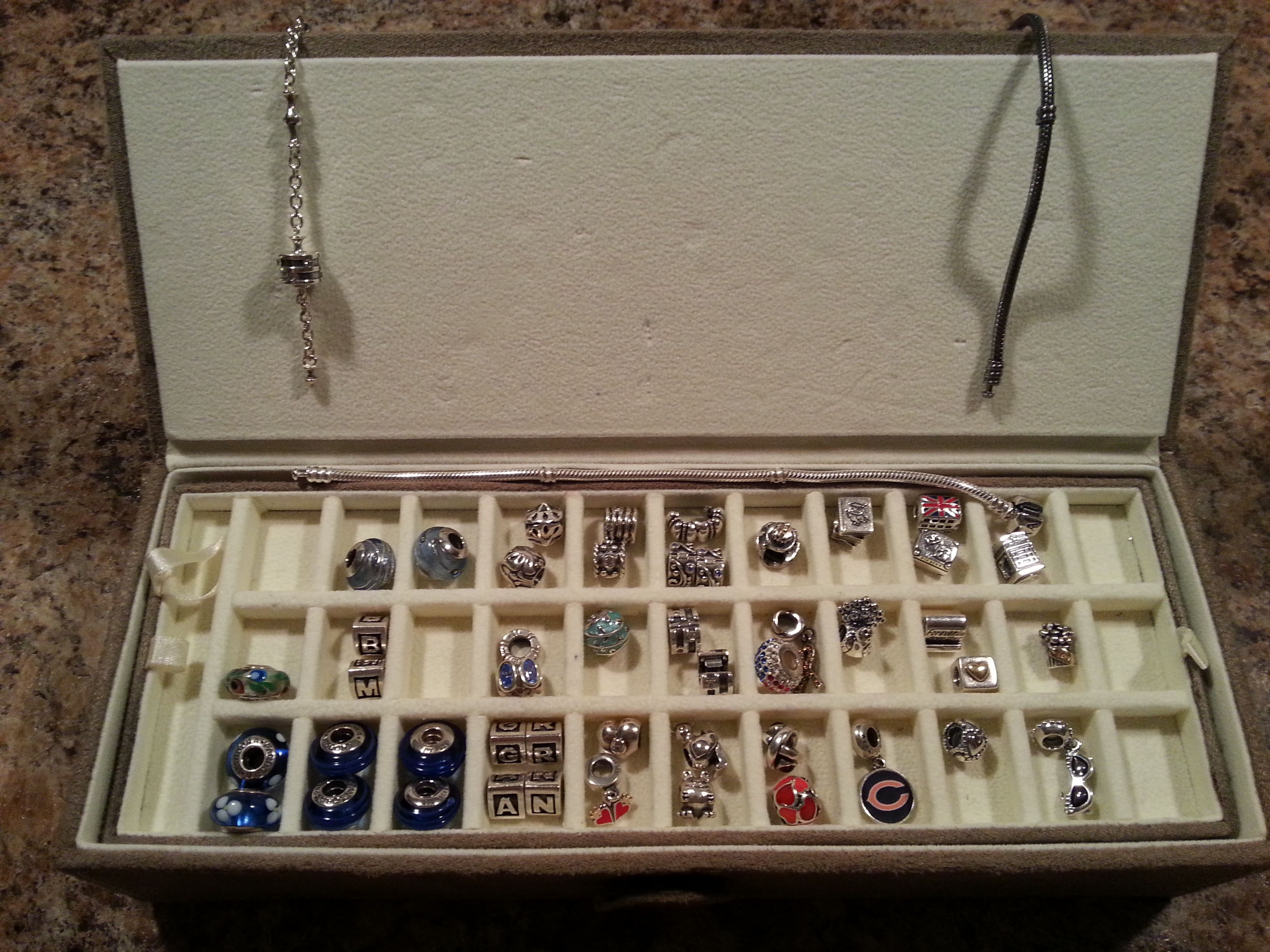 Jean Gascoigne This is the Pandora Jewelry Box that Jared sometimes