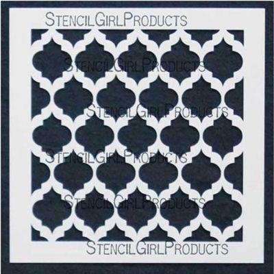 Marrakech 6 Stencil Michelle Ward Stencilgirl Products Mandala Stencils Stencils Stencil Designs
