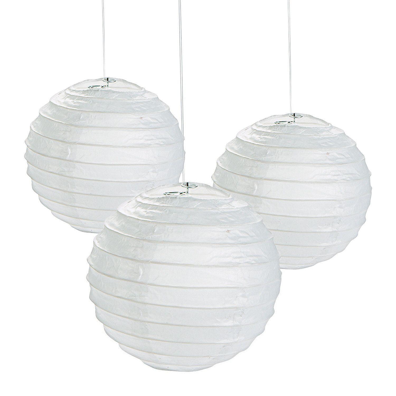 Mini White Hanging Paper Lanterns | White paper lanterns, Paper ...