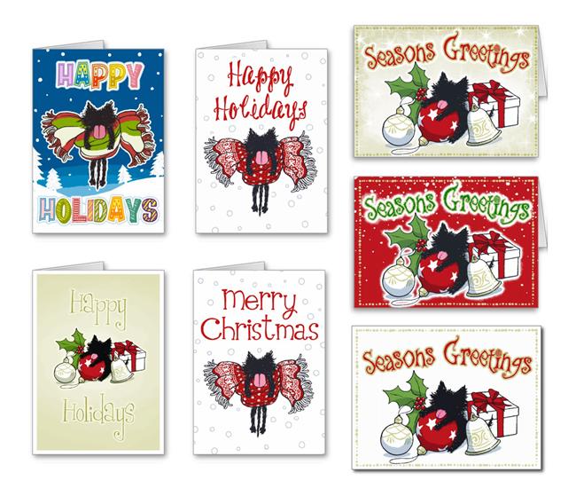 Kitten's Happy Holiday & Christmas Card :)  #Kitten #Cat #christmascards #holidaycards #Holiday #Christmas