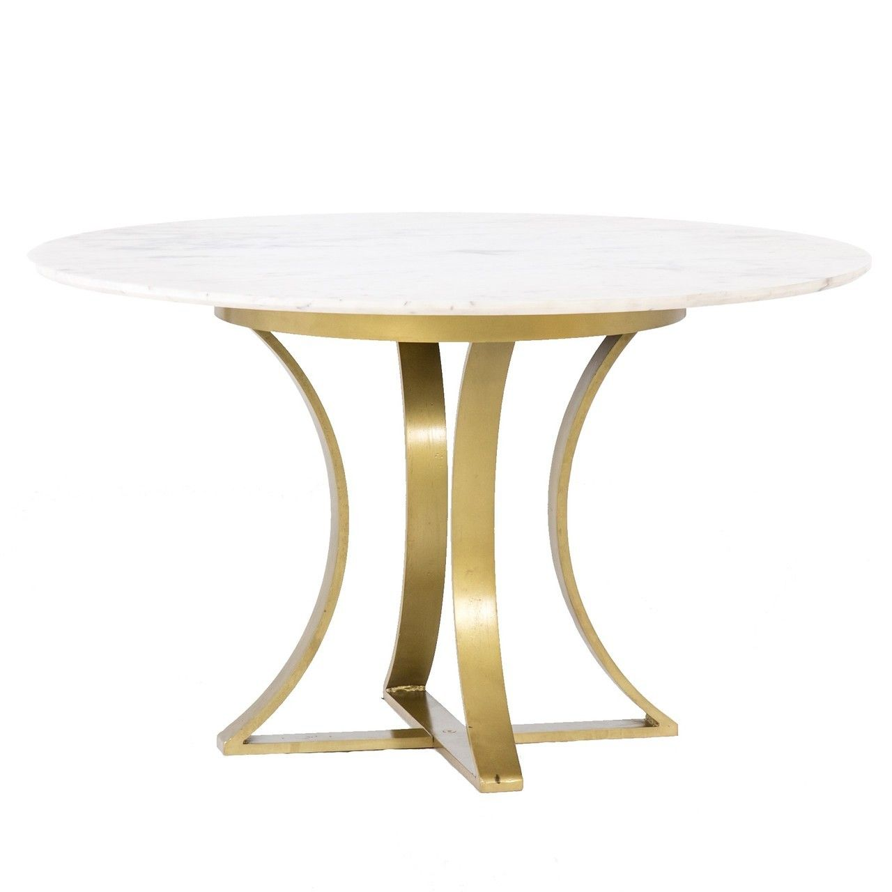 Gage White Marble Antique Brass Leg Round Dining Table 48 In 2020 Dining Table Round Dining Table Round Marble Dining Table