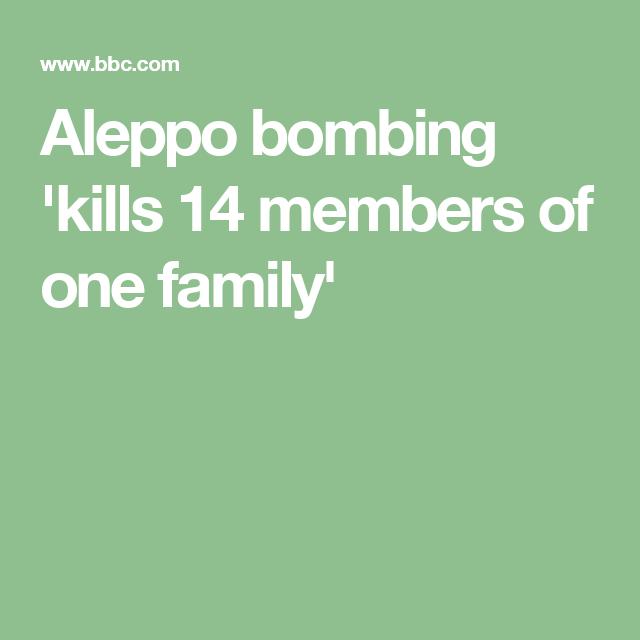 Aleppo bombing 'kills 14 members of one family'