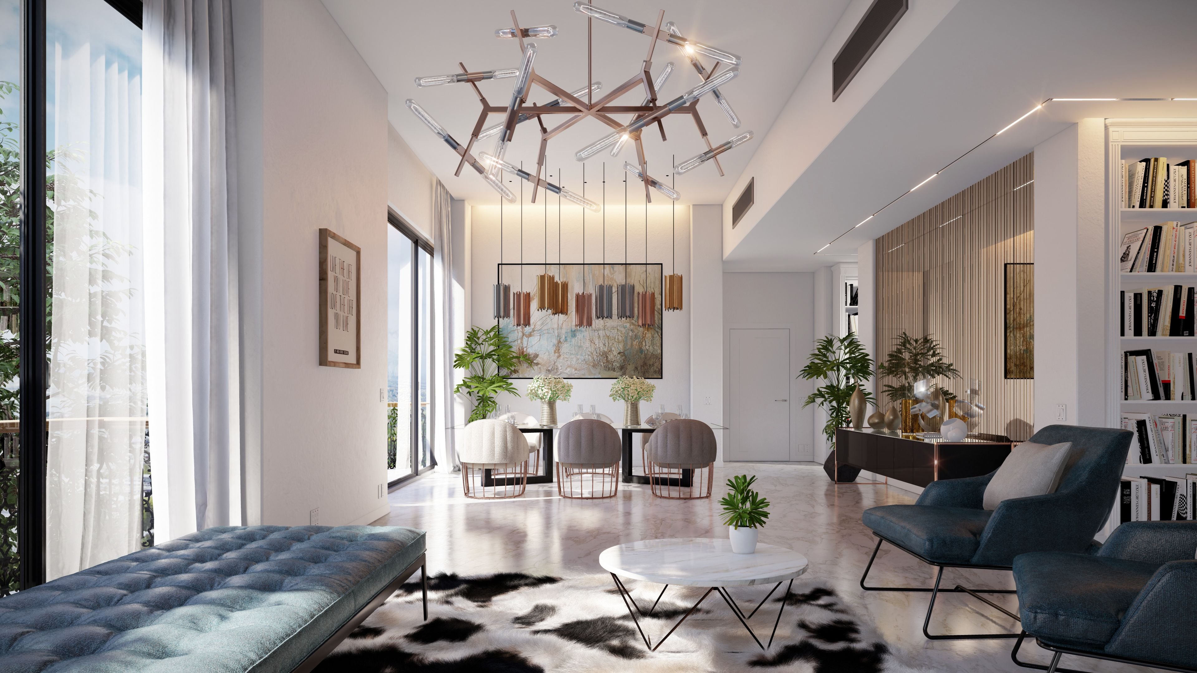 Interior Reference And Light Study Rendered In Lumion9 By