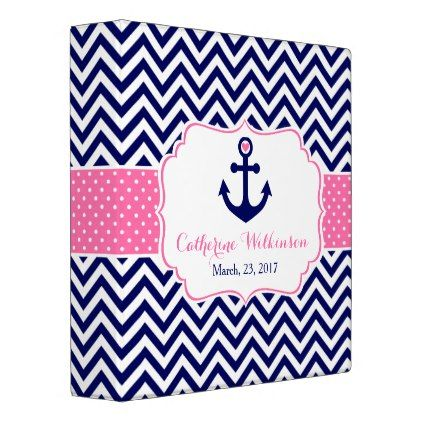Nautical anchor pink and navy baby shower memories binder navy nautical anchor pink and navy baby shower memories binder negle Gallery
