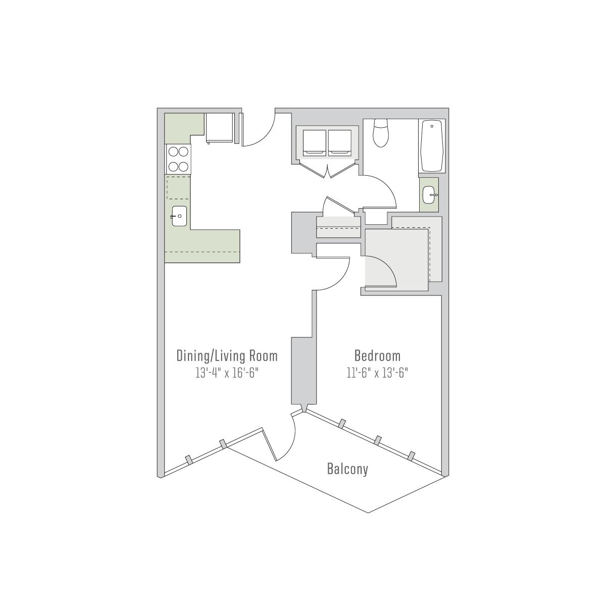 Rent Apt 0413 City Hyde Park Mac Properties Apartments For Rent One Bedroom Apartment Rent