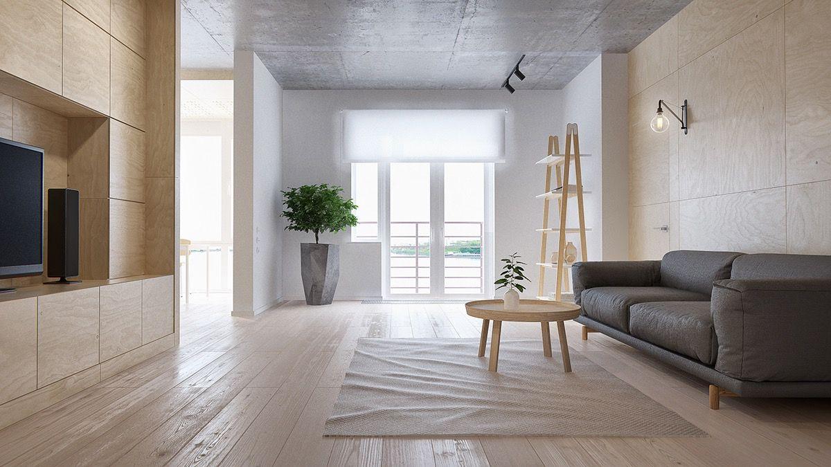 This Apartment In Vladivostok Russia Measure Square Meters - Apartment soft minimalist decor