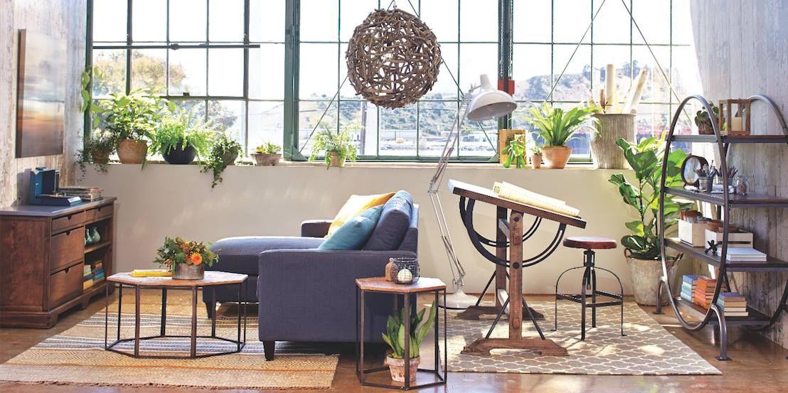 Charcoal Gray Textured Woven Abbott Sofa