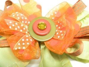 Complete your diy hair bows with buttons and rhinestones in the center. A large center rhinestone hides the Bowdabra Bow Wire and looks professionally made!