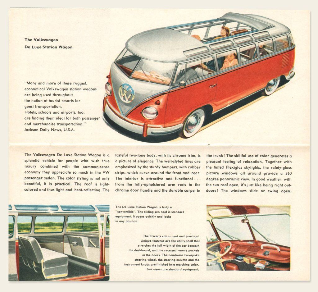 1962 Volkswagen Type 2 Bus Brochure volkswagonclassiccars