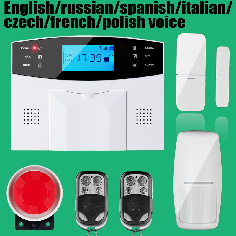 Wireless/wired Phone SIM GSM Home Burglar Security GSM Alarm System ...